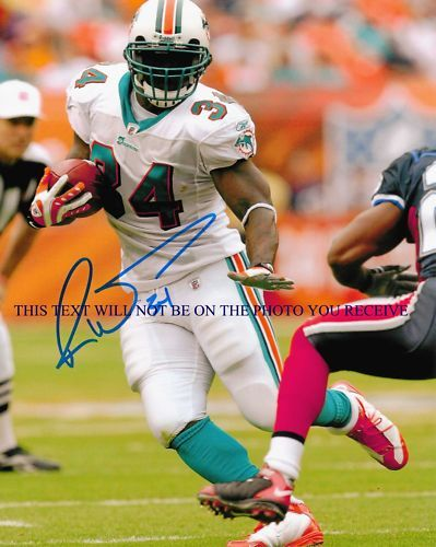 RICKY WILLIAMS SIGNED 8x10 RP PHOTO MIAMI DOLPHINS