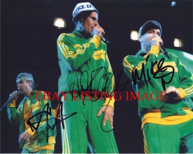 THE BEASTIE BOYS GROUP AUTOGRAPHED 8x10 RP PHOTO MCA ADAM MIKE D AND AD-ROCK