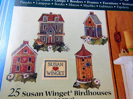 Susan Winget set of 25 Bird Houses Wallies Wallpaper Cutouts Gardening C... - $4.84