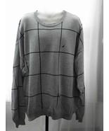Nautica 100% Cotton Grey/Black Crewneck Sweater... - $19.99