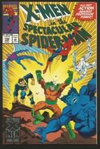 X-men in Spectacular Spider-man #198 HIGH GRADE Marvel Comics 1993 - $5.00