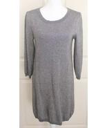 Banana Republic Silver Gray Metallic Wool Cashmere Blend Sweater Dress Sz M - $29.95