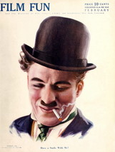 Magazine Cover Film Fun Charlie Chaplin 32x24 W... - $13.95