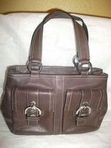 Coach Brown Leather Soho Satchel Purse Hand Bag Tote  # 8A09 - $61.37