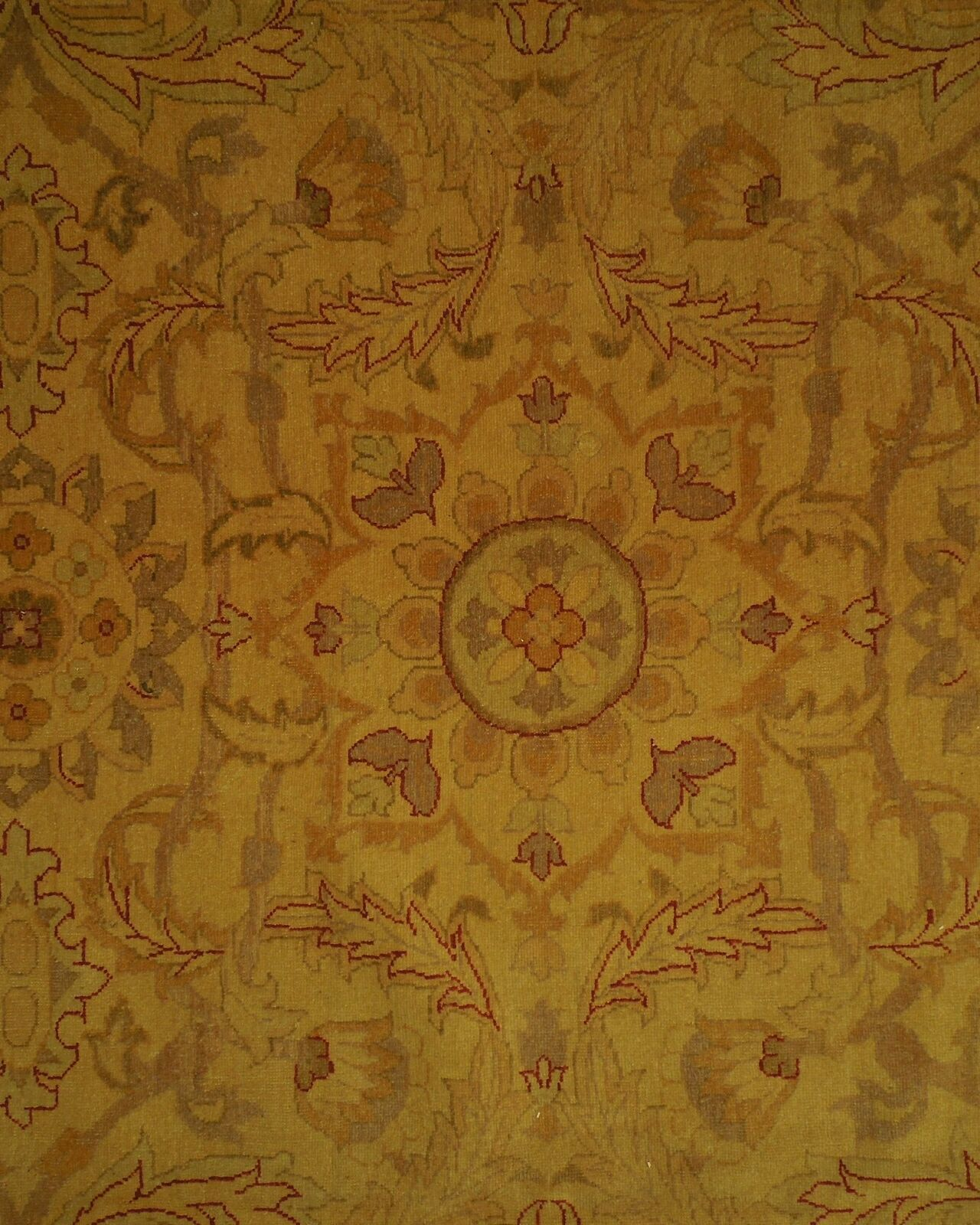 New Vintage Look Perfect Chobi Hand-Knotted 12x18 Beige Oushak Wool Rug image 10