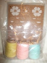 Stampin Up Accessory Pack - Sweet Sorbet Cork Stickers & 3 Rolls Twine NEW - $19.99