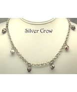 Brown & White Crab Fire Agate Gemstone Bright Silver Necklace & Earring Set - $26.99