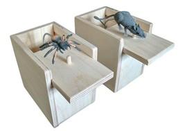 2 boxes Hilarious Scare Spider Mouse Prank - Wooden Scarebox Joke Amish ... - $30.50