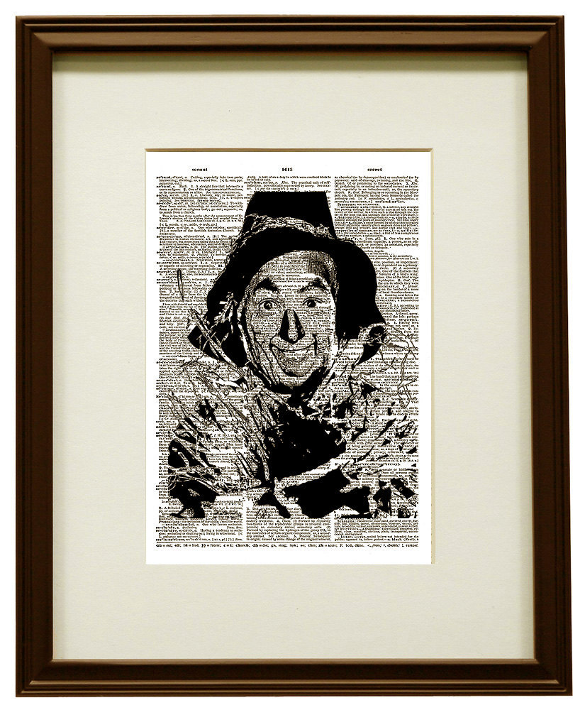 The Scarecrow from the WIZARD of OZ Dictionary Art Print No. 0048