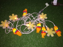 Set Of Ten Christmas Winnie The Pooh and Snowflake Blow Mold Novelty Lights - $9.89