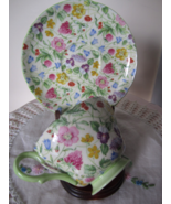 Shelley Vintage English CountrySide Cup & Saucer #13690 ~ Wildflower, Pale Green - €60,26 EUR
