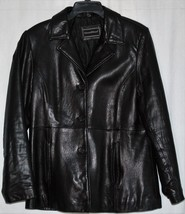 Women's Black Leather Jacket Preswick & Moore S... - $20.00