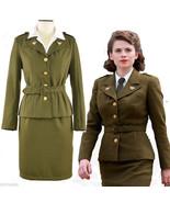 Avengers Captain America Agent Peggy Carter Uniform Dress Cosplay Costume - $83.99+