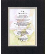 Heartfelt Poem for Daughter-In-Laws – To My Daughter-In-Law 11x14 Double... - $19.95