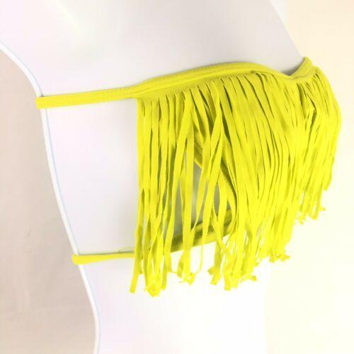 L * Space Bikini Swim Top Womens Beachwear Fringe Strapless XS