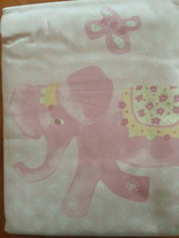 "NIP (set of 2) Pottery Barn ""Layla"" 50"" W x 63""L Pink Elephant Drapery P... - $14.80"