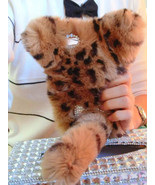 Cat Design Phone Cover Case for Various Mobile Phones Real Fur Long Tail... - $35.00