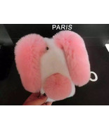 Cute Bunny iPhone 6/6s Case Pink&white Rabbit Fluffy Real Furry iPhone 7... - $30.00+