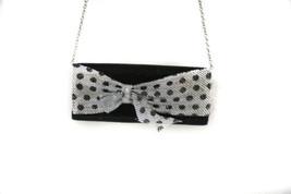 Jessica McClintock Silver/Black Bow Clutch - $19.60