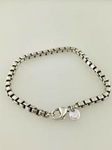 Tiffany & Co.Argent Sterling Boîte Bracelet Chaîne - $161.51