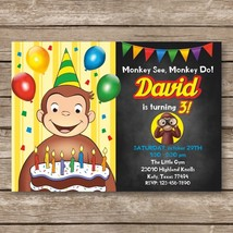 Curious George Digital Invitation, Kids Birthday Invites - $8.00