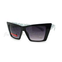 Women's Retro Fashion Sunglasses Rectangular Cateye Leopard - $7.95