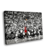 Michael Jordan MJ Basketball Stadium Sport 16x12 Framed Canvas Art Print - $25.46