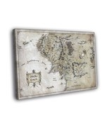 The Lord of the Rings Middle-Earth Map Art 16x12 Framed Canvas Print - $25.46