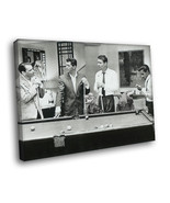 Rat Pack Petro BW Art 16x12 Framed Canvas Print - $25.46