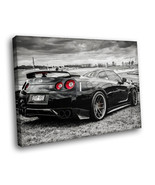Nissan Skyline GTR r35 Tuning Auto Racing Road car 16x12 Framed Canvas A... - $25.46