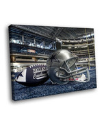 American football Dallas Cowboys Logo 16x12 Framed Canvas Art Print - $25.46