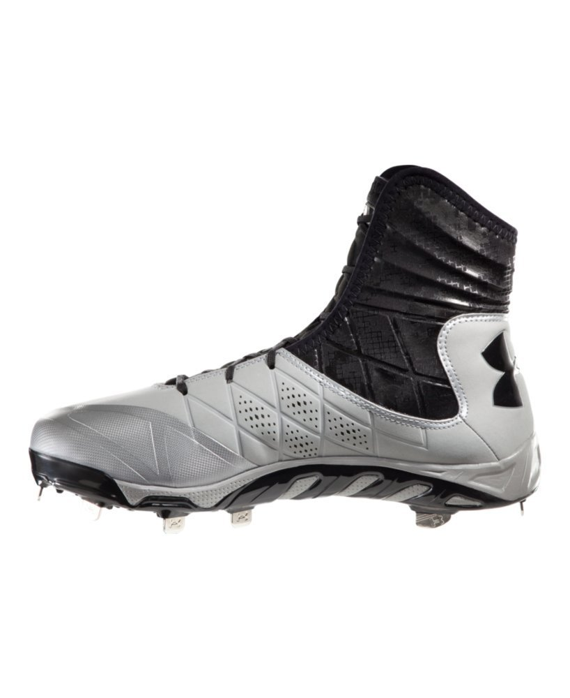 Under Armour Men`s UA Spine Highlight ST Baseball Cleats 11 Baseball Gray