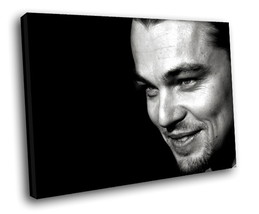 Leonardo DiCaprio Hot actor BW 40x30 Framed Canvas Art Print - $29.95