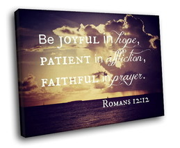 Bible Verses Quote 40x30 Framed Canvas Art Print - $29.95