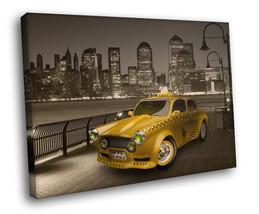 New York Taxi Yellow cab 30x20 Framed Canvas Ar... - $19.95