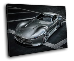 Mercedes-Benz SLS AMG Supercar Luxury auto 30x20 Framed Canvas Art Print - $19.95