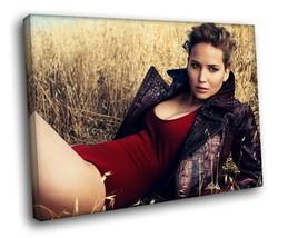 Jennifer Lawrence Hot actress 40x30 Framed Canv... - $29.95