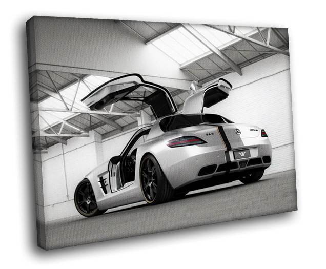 Mercedes benz sls amg 30x20 framed canvas art print posters for Mercedes benz wall posters
