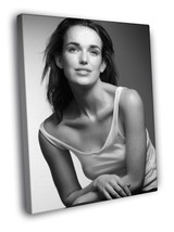Elizabeth Henstridge Hot Beautiful Actress BW 16x12 Framed Canvas Print - $22.46