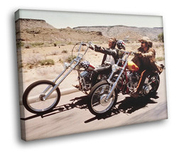 Easy Rider American road movie Bikers Fonda Hopper 40x30 Framed Canvas A... - $29.95