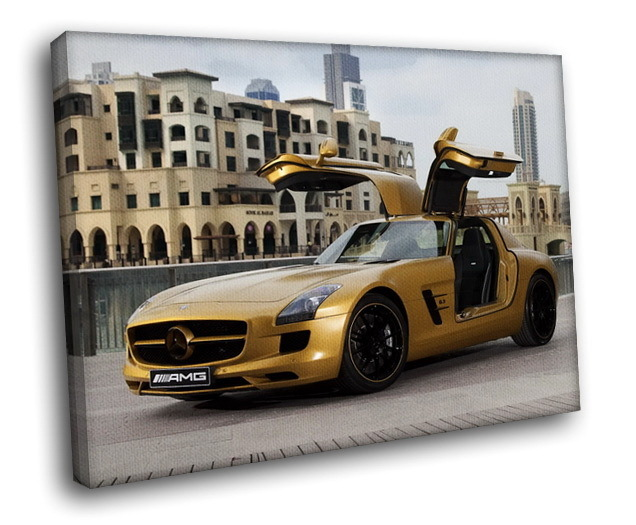 Mercedes benz sls amg supercar luxury auto 12x8 framed for Mercedes benz wall posters