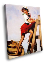 Pin up Girl Sexy sailor 30x20 Framed Canvas Art Print - $19.95