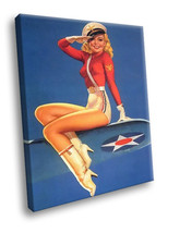 Pin up Girl Sexy stewardess Sweetie 30x20 Framed Canvas Art Print - $19.95