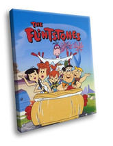 The Flintstones TV sitcom Comedy 30x20 Framed Canvas Art Print - $19.95