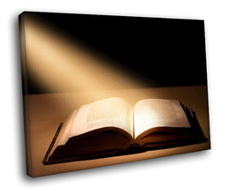 Bible Light Magic Book 40x30 Framed Canvas Art Print - $29.95