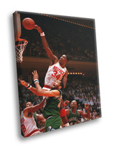 Hakeem Olajuwon Dunk Basketball Vintage 12x8 Framed Canvas Print - $14.96