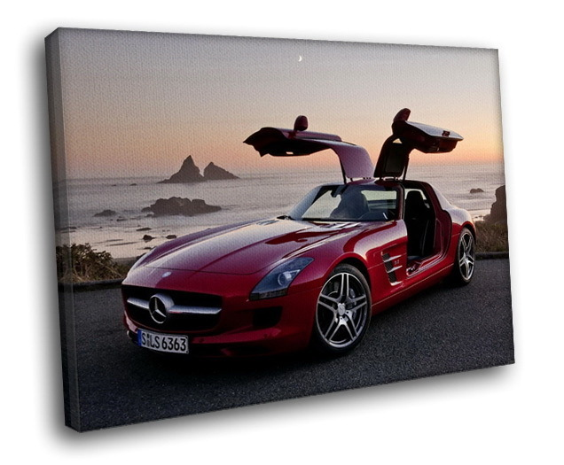 Mercedes benz sls amg supercar luxury auto 30x20 framed for Mercedes benz wall posters
