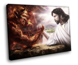 Angel and Demon Good and Evil 30x20 Framed Canvas Art Print - $19.95
