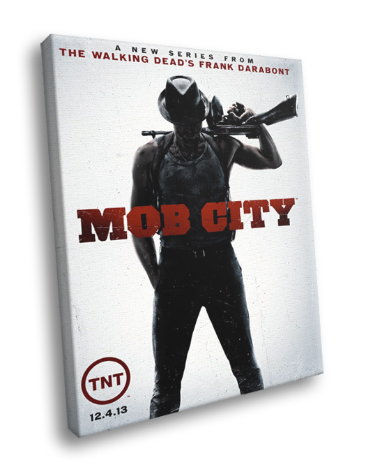 Mob City TV Series Frank Darabont Tommy Gun 40x30 Framed Canvas Print