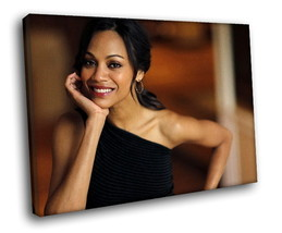 Zoe Saldana Hot actress 40x30 Framed Canvas Art Print - $29.95